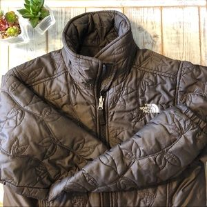 The North Face vine pattern puffer jacket